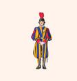 vatican swiss guardsman vector image vector image