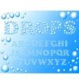 water drops alphabet vector image