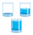 water glasses vector image