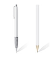 white blank pencil and pen vector image