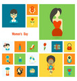 womans day icon set vector image vector image