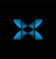x modern logo vector image vector image