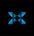 x modern logo vector image