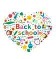 Back to school colorful composition in a shape of vector image