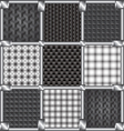 Seamless pattern carbon vector image