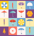 umbrella icons collection vector image
