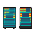 database server icon flat vector image