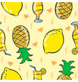 pattern drink and fruit art vector image