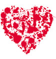 red spot in the shape of a heart vector image