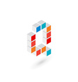 3d cube letter Q logo icon design template vector image vector image