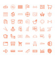 49 line icons vector image vector image