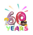 60 years anniversary invitation card vector image vector image