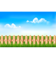 A fence in a field vector image vector image