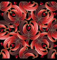 abstract 3d love hearts seamless pattern vector image