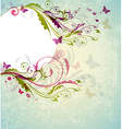 Abstract decorative floral background vector image vector image