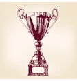 Award trophy hand drawn llustration vector image vector image