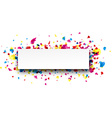 Banner with drops vector image