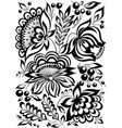 beautiful monochrome black and white flowers and vector image vector image