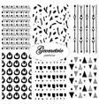 black and white geometric seamless pattern swatch vector image vector image