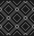 black and white seamless pattern with geometric sh vector image vector image