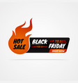 black friday sale banner template design for vector image