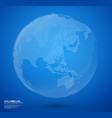 blue abstract dotted globe vector image vector image