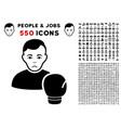 boxing sportsman icon with bonus vector image vector image
