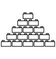 building block black color icon vector image vector image