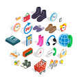 business program icons set isometric style vector image vector image
