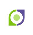 business shape geometry company logo vector image