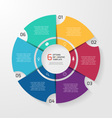 circle infographic 6 options vector image vector image