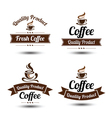 Coffee label 2 vector image vector image