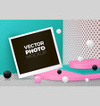 corner wall abstract scene with photo card vector image