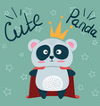 cute little princess panda characters vector image