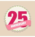 Cute Template 25 Years Anniversary Sign vector image vector image