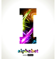 Design Abstract Letter I vector image vector image