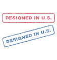 designed in us textile stamps vector image