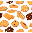 different cookies in cartoon style vector image vector image