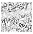 Disneyland Resort Near Newport Beach Word Cloud vector image