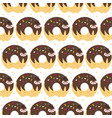 donut sloth pattern vector image vector image