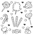doodle of sweet candy element various vector image vector image