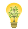 eco energy lamp vector image
