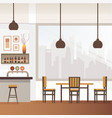 empty bar or pub interior flat vector image