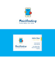flat smartphone logo and visiting card template vector image