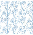 flax pattern in hand drawn style vector image vector image