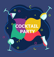 flyer for night cocktail party vector image vector image