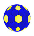 football blue ball isolated on vector image