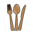 fork knife spoon cutlery icon image vector image vector image