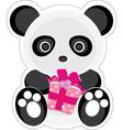 gift panda vector image vector image