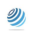 globe global globalized logo template vector image
